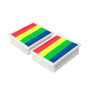 Rainbow Glow - 10g/2pkt UV Face & Body Paint Cake Palette Refill