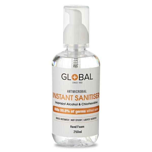 Sanitiser 70% IPA Hand Foam - 250ml pump bottle - Fresh Fragrance