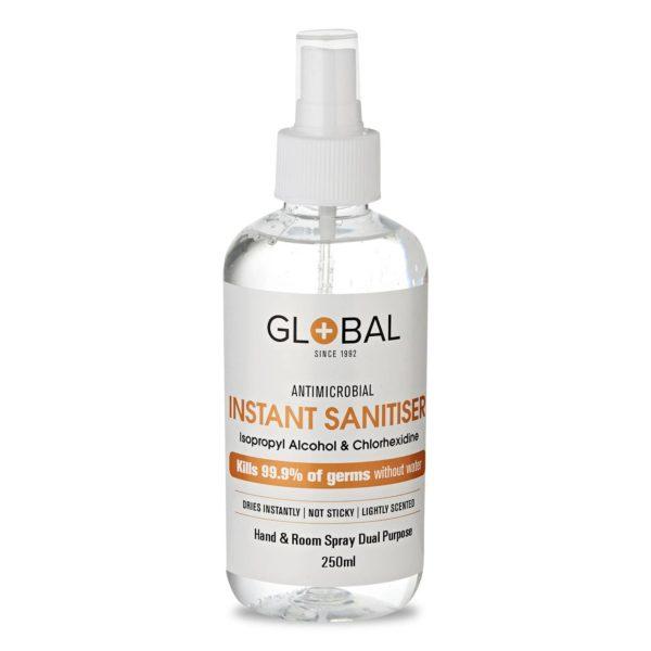 Sanitiser 75% IPA WHO Formula Spray - 250ml Multi-Purpose Hand & Surface - No Fragrance